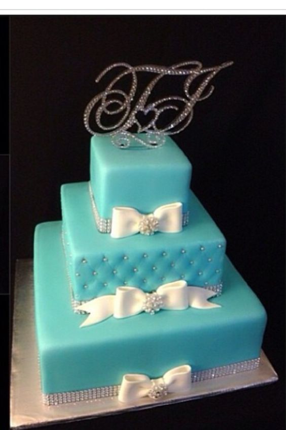 The most beautiful tiffany blue cake