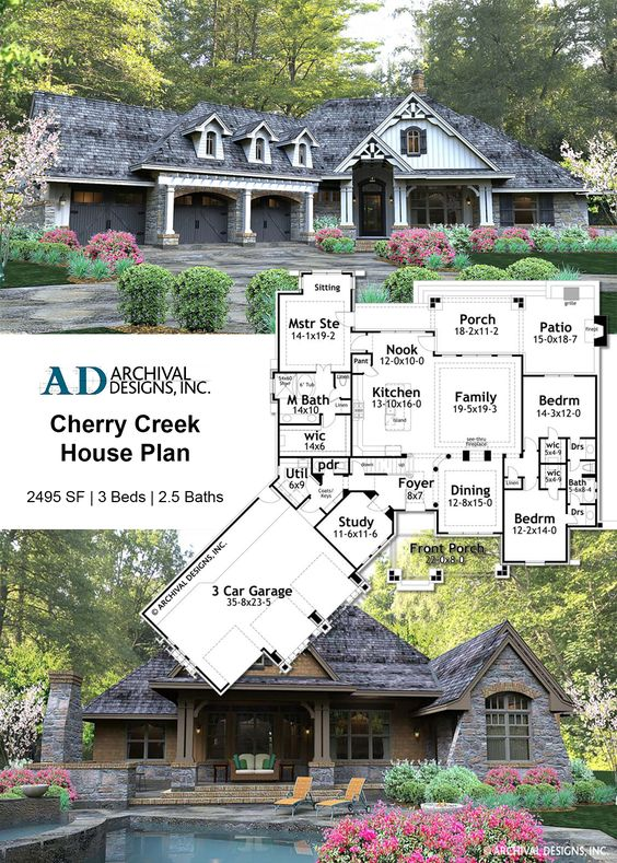 Cherry Creek House Plan Rustic House Plans Ranch House Plans Rustic House