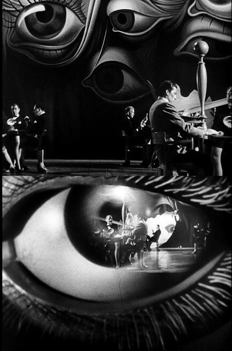Stills from the Salvador#Dali-designed dream sequence in Spellbound (1945, dir. Alfred #Hitchcock)