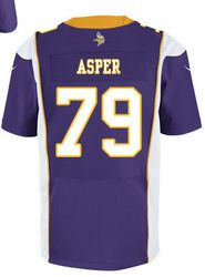 """$78.00--Mark Asper Jersey - Elite Nike Stitched Purple Home Minnesota Vikings #79 Jersey,Free Shipping! Buy it now:click on the picture, than click on """"visit aliexpress.com"""" In the new page."""