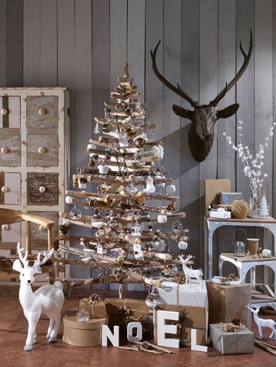 sapin de noel original a faire soi meme shabby chic. Black Bedroom Furniture Sets. Home Design Ideas