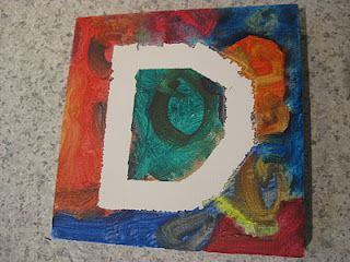 Tape resist painting