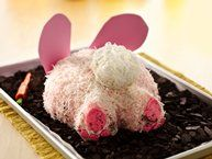Bunny Butt Cake recipe from Betty Crocker. We could also make Bunny Butt Buns