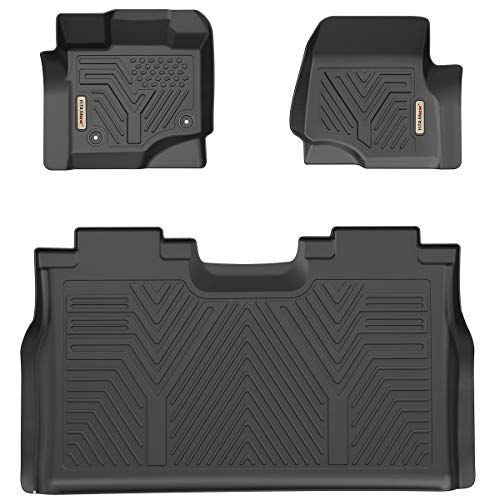 Yitamotor Floor Mats For F150 Custom Fit Floor Liners For 2015 2019 Ford F 150 Supercrew Cab 1st 2nd Row All Weather Prote Floor Liners Ford F150 2019 Ford