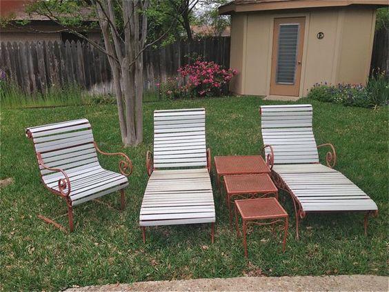 #Woodard chaise loungers #Vintage patio #ATX #estatesale April 12-13