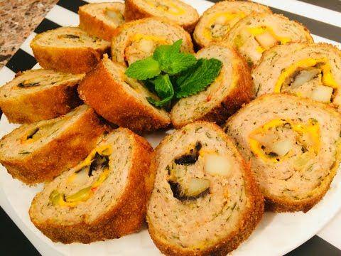 طريقة سويسرول الدجاج بالتفصيل سويسرول حار من مطبخ ام لقمان موالح رمضانية Youtube Tunisian Food Recipes Food