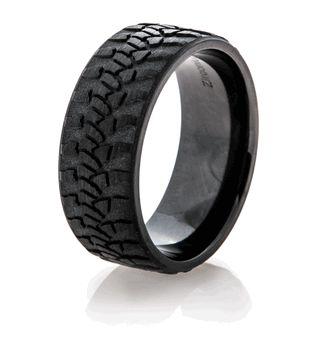 Wrangler Black Tread Ring, Mud Bogger Rings - Titanium-Buzz.com