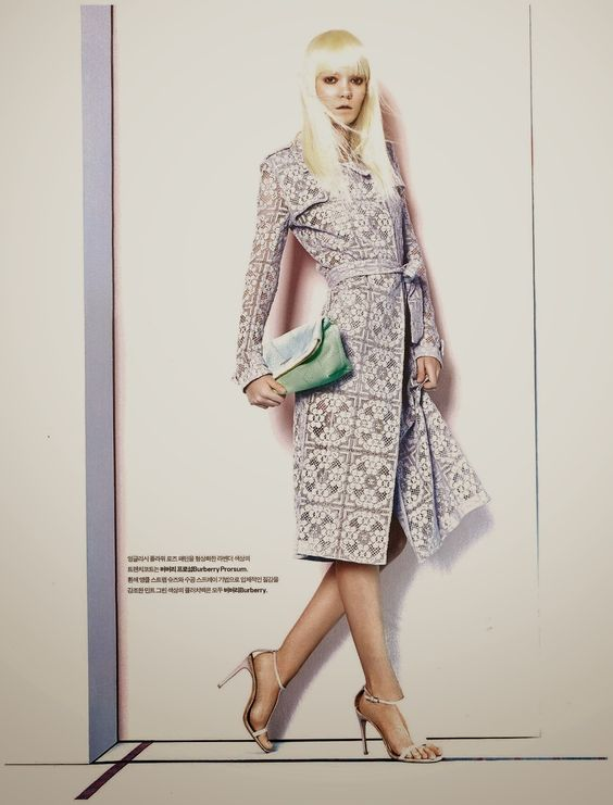"""""""Blooming Pastel Town"""" Cassie Stana in Burberry Prorsum by Kim Oimil for Luxury Magazine March 2014"""