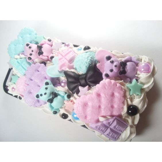 Pastel Goth Phone Case ($20) ❤ liked on Polyvore featuring accessories, tech accessories and phone