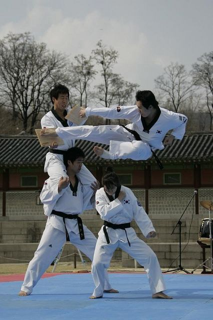 Taekwondo Demonstration - This Taekwondo demonstration allows visitors to take part in the national sport of Korea. Visitors can try on the traditional dress of Taekwondo and compete in matches.