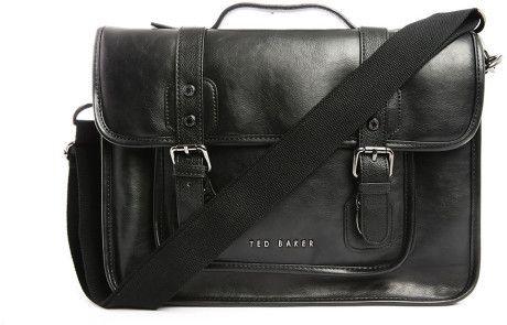 Ted Baker Black The Fox Pu Bag in Black for Men