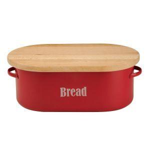 Vintage Kitchen Bread Bin in Red