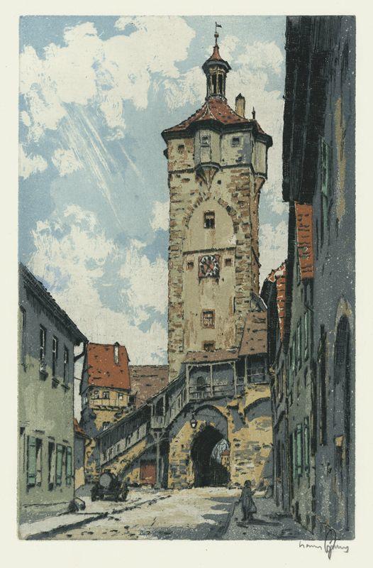 Rothenburg, Klingentor Gate Hans Figura