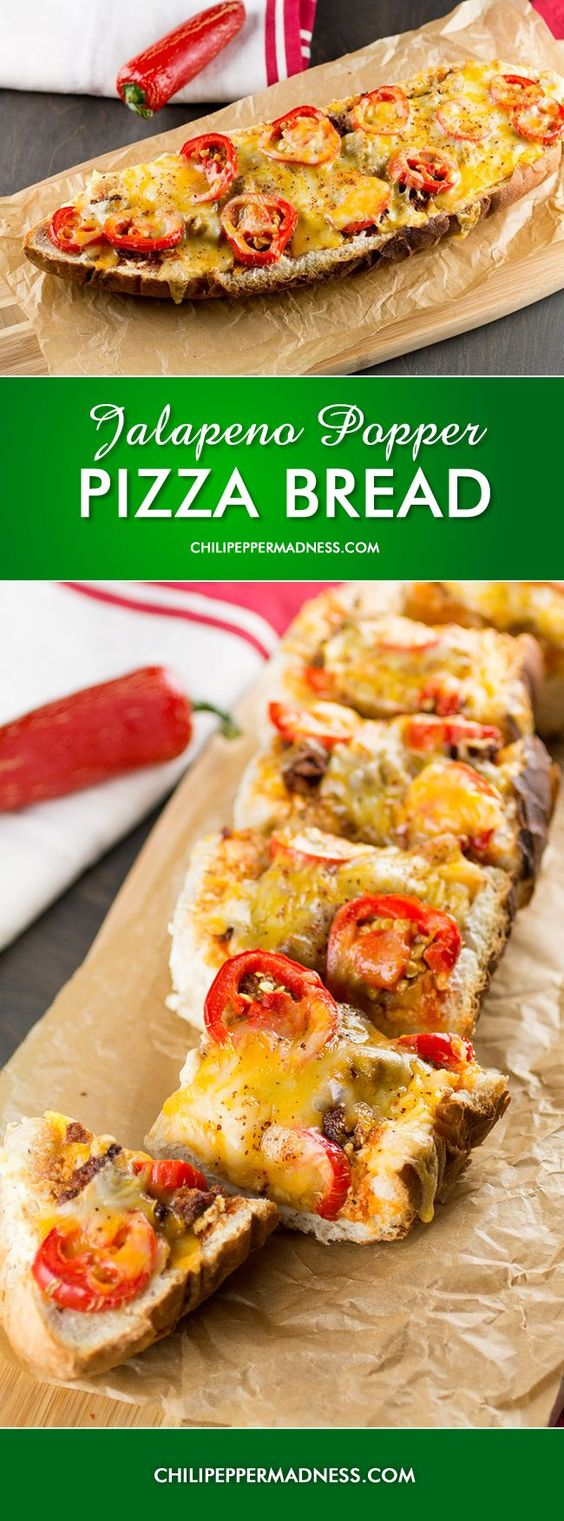Jalapeno Popper Pizza Bread | Appetizers that Amaze! | Pinterest ...