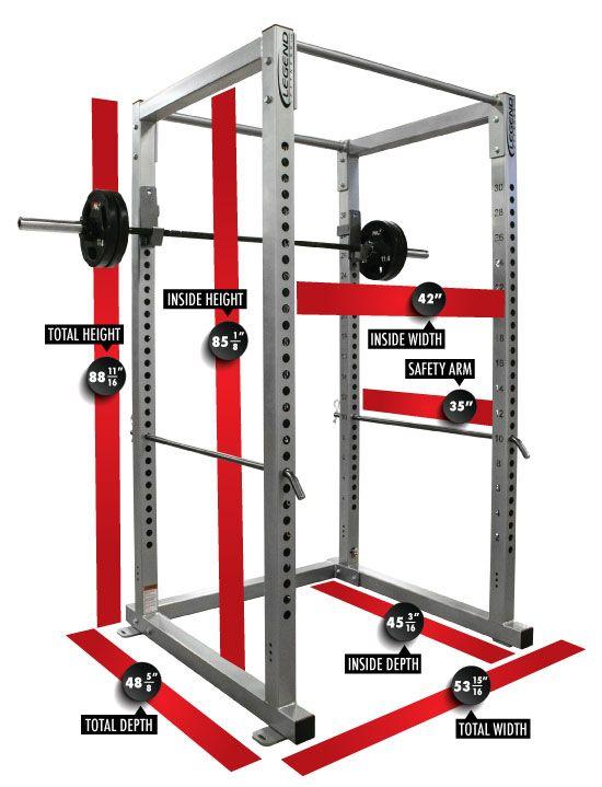 Power rack and google on pinterest for Power rack design plans