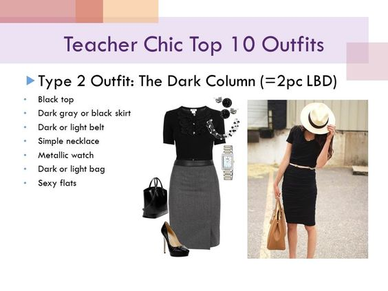 teacher chic: 2 piece to make an LBD, or the 'dark column'