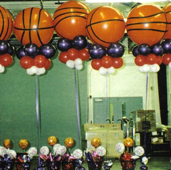 Basketball Party Balloon Decorations And Decor On Pinterest