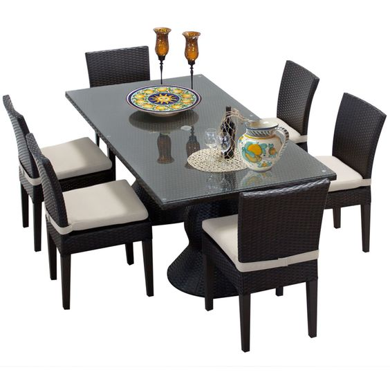 Cantwell 7 Piece Dining Set with Cushions
