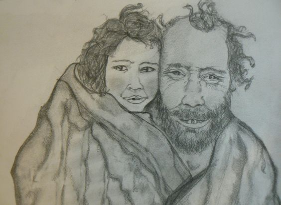 Retrato Familiar a lápiz.