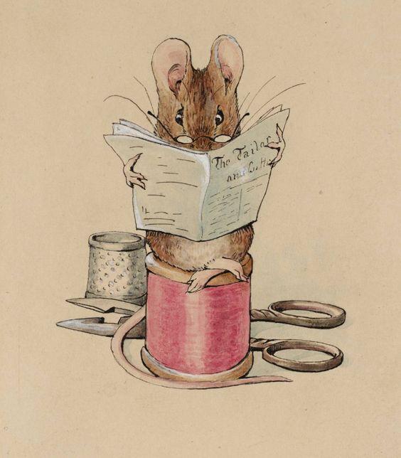 beatrix potter drawings images | Helen Beatrix Potter, 'Frontispiece: The Tailor Mouse' c.1902