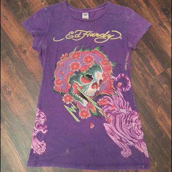 Ed Hardy tee Purple Ed Hardy t-shirt. Great condition. Ed Hardy Tops Tees - Short Sleeve