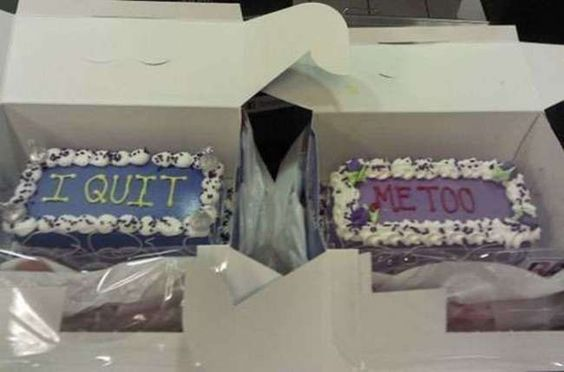 When you have to say something unpleasant, it's best to do it with cake.
