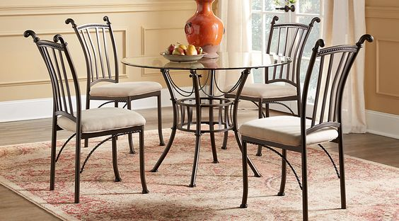 Dining Casual Round Dining Set Glasses Round Dining Room Sets Modern