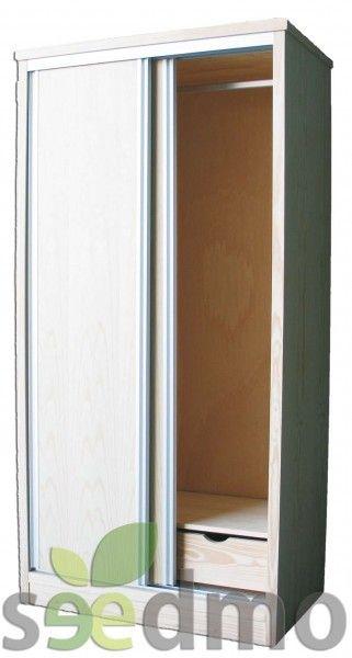 Armario con puertas correderas y tirador met lico o de - Tirador puerta corredera ...