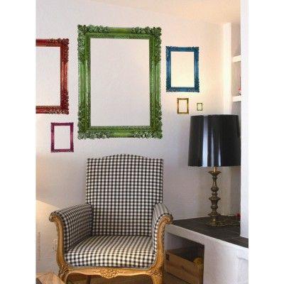 Stickers géants Y de Laro - Cadres Paris Couleur à combiner avec wallsweethome.fr pour un mur de tableaux 100% DIY