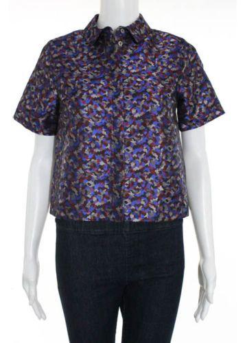 NWT TOPSHOP Multicolored Short Sleeve Button Front Crop Top Sz 0 https://t.co/WKMDsdDCq2 https://t.co/cpFXldIb9L