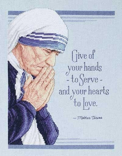 """Give of your hands to serve and your hearts to give."" Mother Teresa #quote #love #serve"