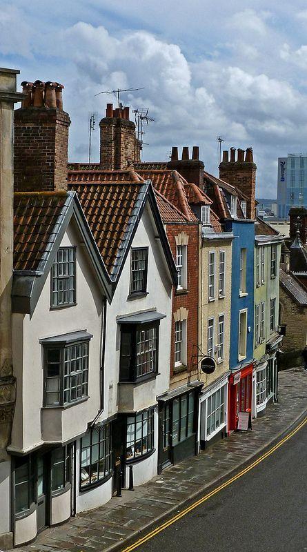 Colston Street, Bristol, England, UK