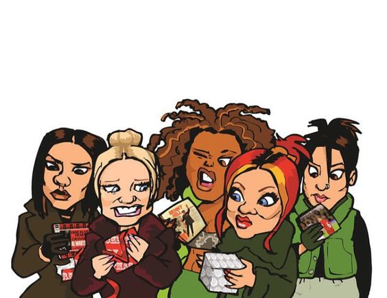 Cartoon Spice Girls