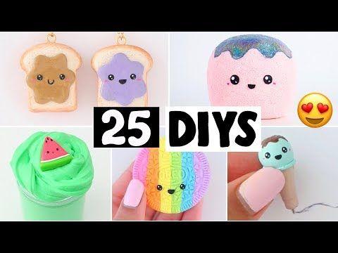 Making 25 Amazing Diy Slimes Squishies Room Decor Compilation Youtube Diy Slime Diy Fluffy Slime Diy School Supplies