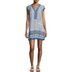 buy Calypso St. Barth Imbris Cap-Sleeve Shift Dress, Coconut >>>$$price $250.00 At : Top10dresses #Calypso-St.-Barthdress #buy #Calypso #St. #Barth #Imbris #Cap-Sleeve #Shift #Dress #Coconut