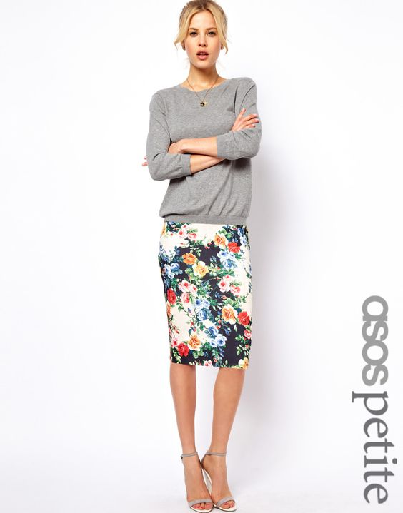 Floral Pencil Skirt: