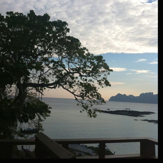 View from the balcony - early morning Phi Phi Island