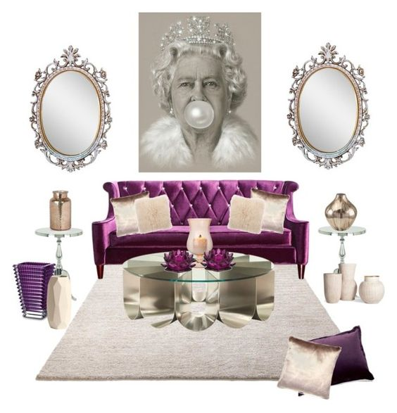 """""""Royalty"""" by hollybgdesigns ❤ liked on Polyvore featuring interior, interiors, interior design, home, home decor, interior decorating, ESPRIT, Armen Living, Etro and V Rugs & Home"""