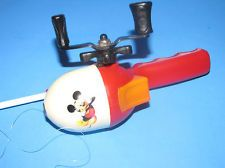 mickey mouse fishing rod reel vintage collectible disney zebco, Fishing Reels