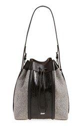 Alexander Wang 'Prisma' Genuine Snakeskin & Wool Bucket Bag