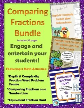 Equivalent fractions, Comparing fractions and Word problems on ...