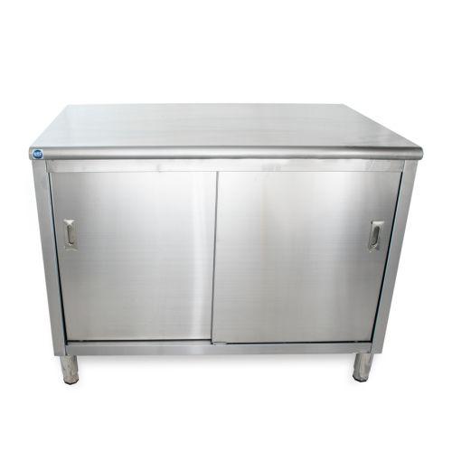 Universal St 330 48 30 X 48 Stainless Steel Storage Dish Cabinet Sliding Doors Metal Storage Cabinets Storage Cabinets Storage