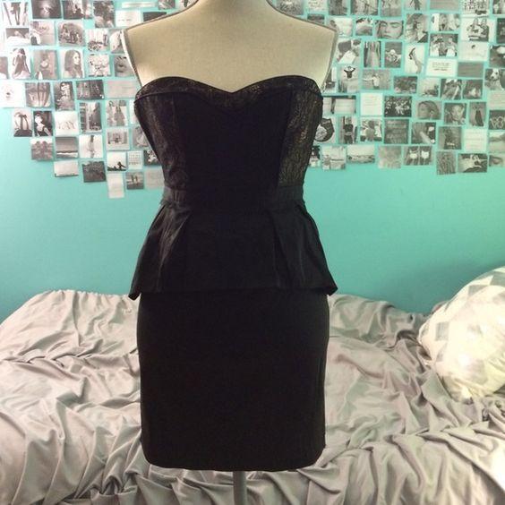 BCBGMaxAzria black formal dress | Bcbgmaxazria dresses, Lace and Black