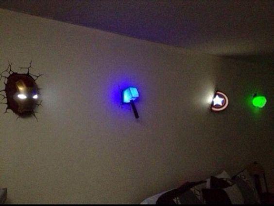 Super hero night lights.