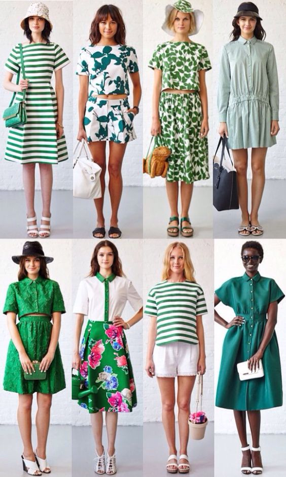GREEN #behindthecurtain kate spade new york spring 2015