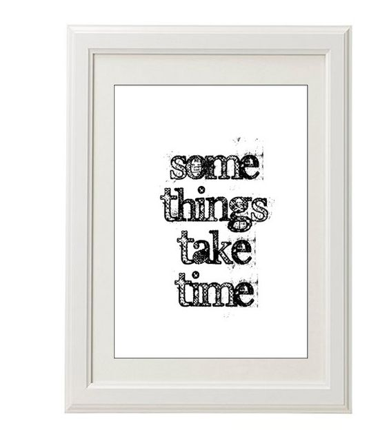 Patience print, black typography print, 8''x10'', free shipping, everyday wisdom, grunge. $18.00, via Etsy.