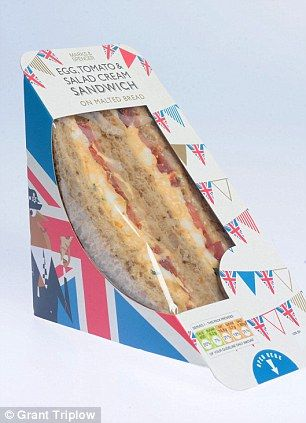Marks & Spencer-Egg Tomato and salad cream sandwich