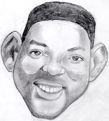 pencil drawings of people will smith with winning smile ...