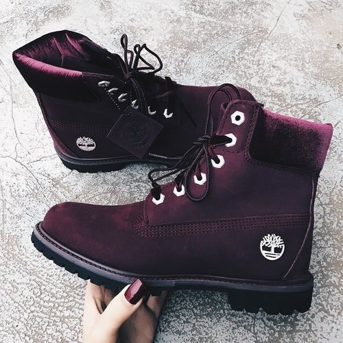Maroon boots, Boots, Timberland boots