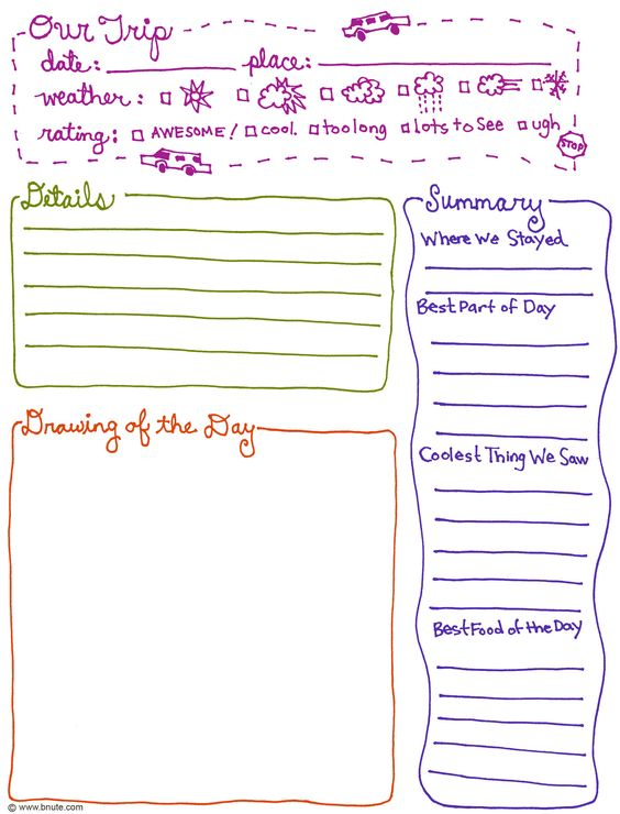 Field Trip notes! (and pre-planning for writing!!): Family Vacation, Travel Journal Page, Summer Vacation, Travel Journal Printables, Free Printable